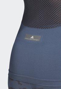 adidas by Stella McCartney - ESSENTIALS SEAMLESS TANK TOP - Linne - blue - 5