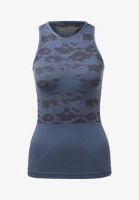 adidas by Stella McCartney - ESSENTIALS SEAMLESS TANK TOP - Linne - blue - 6