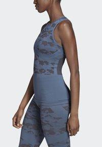 adidas by Stella McCartney - ESSENTIALS SEAMLESS TANK TOP - Linne - blue - 2