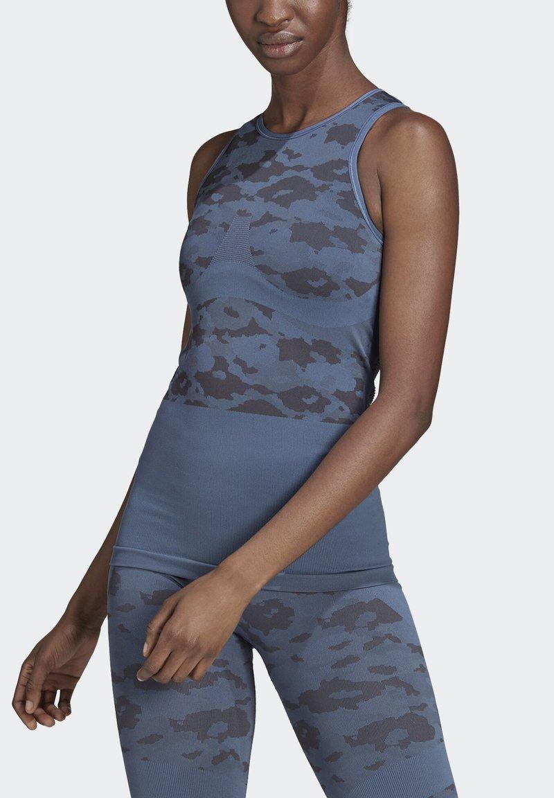 adidas by Stella McCartney - ESSENTIALS SEAMLESS TANK TOP - Linne - blue