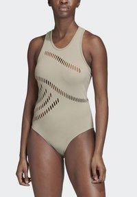 adidas by Stella McCartney - WARP KNIT TRAINING BODYSUIT - Funktionströja - grey - 1
