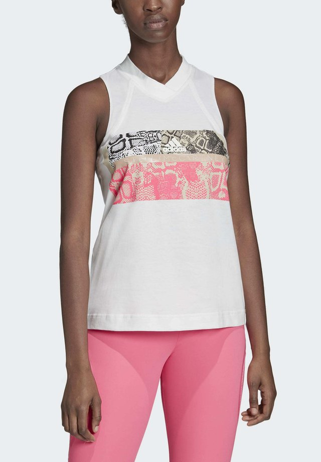 GRAPHIC TANK TOP - Top - white
