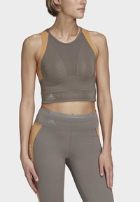 adidas by Stella McCartney - HEAT.RDY FITTED CROP TOP - Top - grey - 0