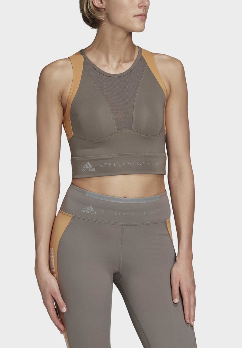 adidas by Stella McCartney - HEAT.RDY FITTED CROP TOP - Top - grey