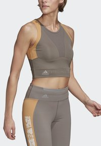 adidas by Stella McCartney - HEAT.RDY FITTED CROP TOP - Top - grey - 4