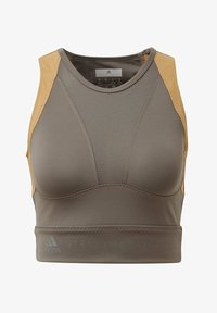 adidas by Stella McCartney - HEAT.RDY FITTED CROP TOP - Top - grey - 8