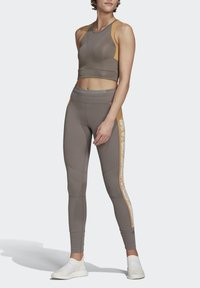 adidas by Stella McCartney - HEAT.RDY FITTED CROP TOP - Top - grey - 1