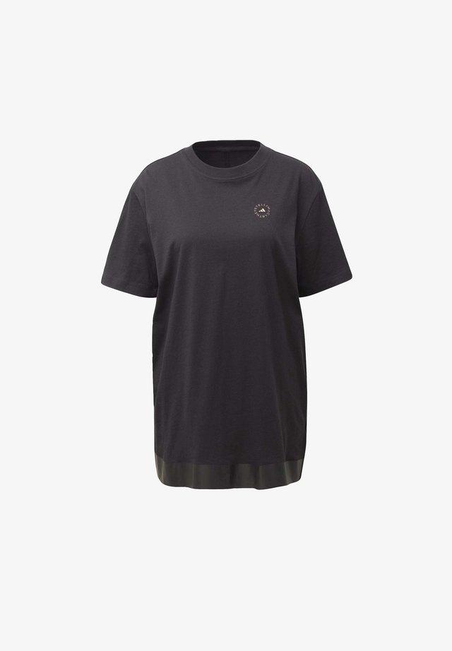 COTTON T-SHIRT - T-shirts med print - black