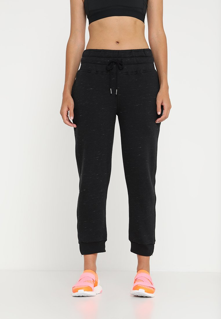 adidas by Stella McCartney - ESSENTIAL PANTS - Verryttelyhousut - black storm mel
