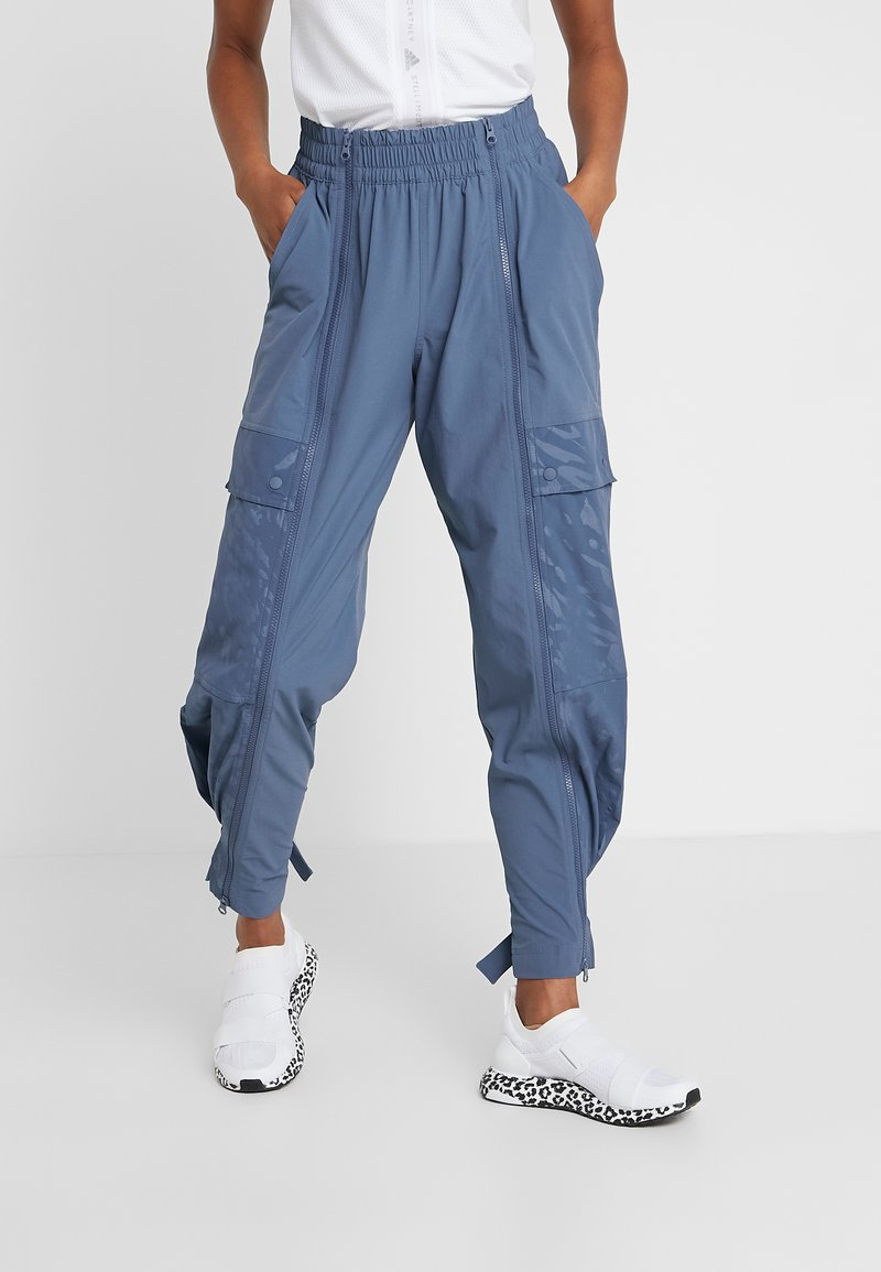 adidas by Stella McCartney - SPORT CLIMALITE TRACK PANTS - Cargo trousers - tech ink