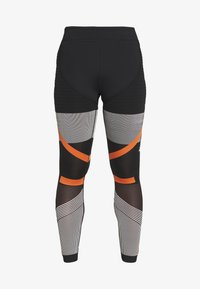 adidas Performance - PARLEY PRIMEKNIT RUNNING HIGH WAIST LEGGINGS - Tights - black/white/orange - 5