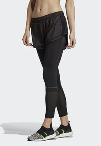 adidas by Stella McCartney - PERFORMANCE ESSENTIALS SHORTS OVER LEGGINGS - Leggings - black - 3