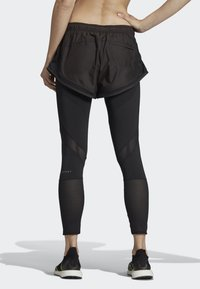 adidas by Stella McCartney - PERFORMANCE ESSENTIALS SHORTS OVER LEGGINGS - Leggings - black - 1