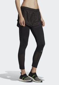 adidas by Stella McCartney - PERFORMANCE ESSENTIALS SHORTS OVER LEGGINGS - Leggings - black - 2