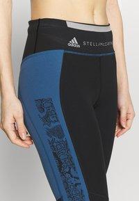 adidas by Stella McCartney - RUN  - 3/4 sports trousers - black/blue - 5