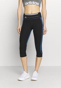 adidas by Stella McCartney - RUN  - 3/4 sports trousers - black/blue - 0