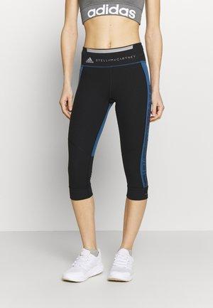 RUN  - Träningsshorts 3/4-längd - black/blue