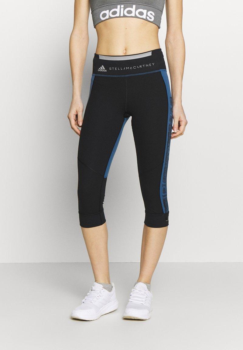 adidas by Stella McCartney - RUN  - 3/4 sports trousers - black/blue