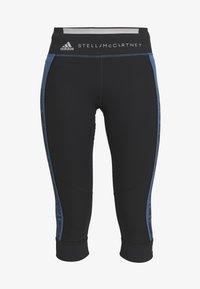 adidas by Stella McCartney - RUN  - 3/4 sports trousers - black/blue - 4