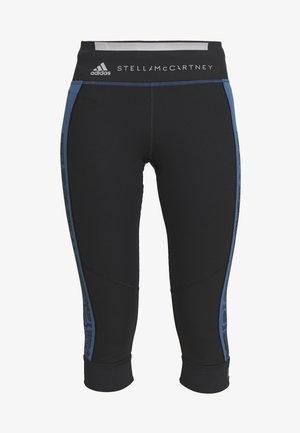 RUN  - 3/4 sports trousers - black/blue
