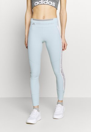 Leggings - blue/white