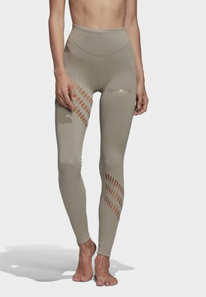 WARP KNIT LEGGINGS - Legging - grey