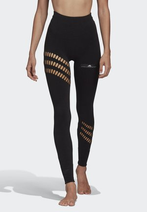 WARP KNIT LEGGINGS - Collants - black