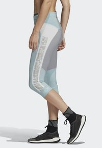 adidas by Stella McCartney - HEAT.RDY 3/4 LEGGINGS - Leggings - sterling blue - 3
