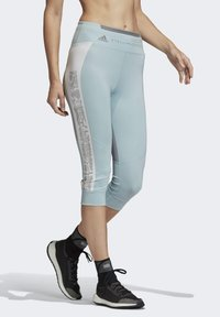 adidas by Stella McCartney - HEAT.RDY 3/4 LEGGINGS - Leggings - sterling blue - 4