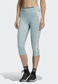 adidas by Stella McCartney - HEAT.RDY 3/4 LEGGINGS - Leggings - sterling blue - 0