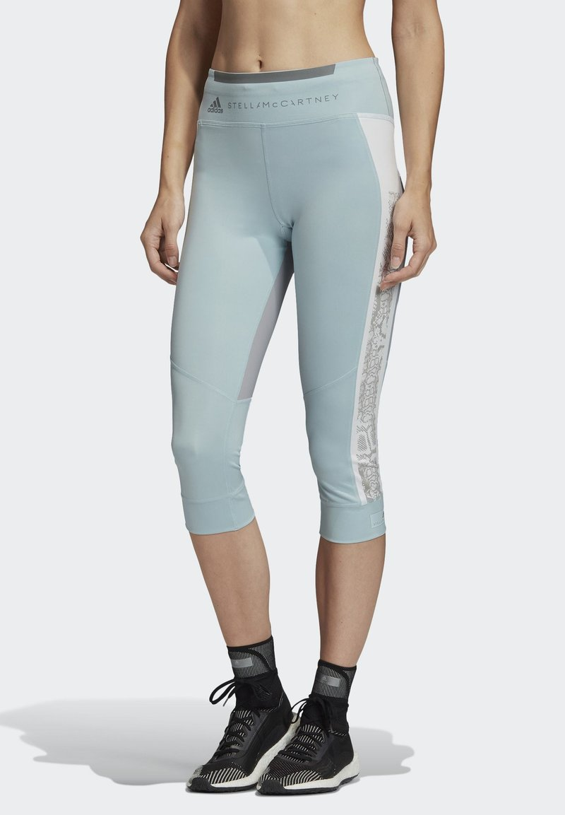 adidas by Stella McCartney - HEAT.RDY 3/4 LEGGINGS - Leggings - sterling blue