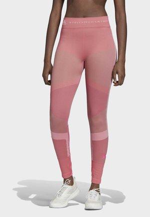 2020-03-02 RUN KNIT LEGGINGS - Tights - pink