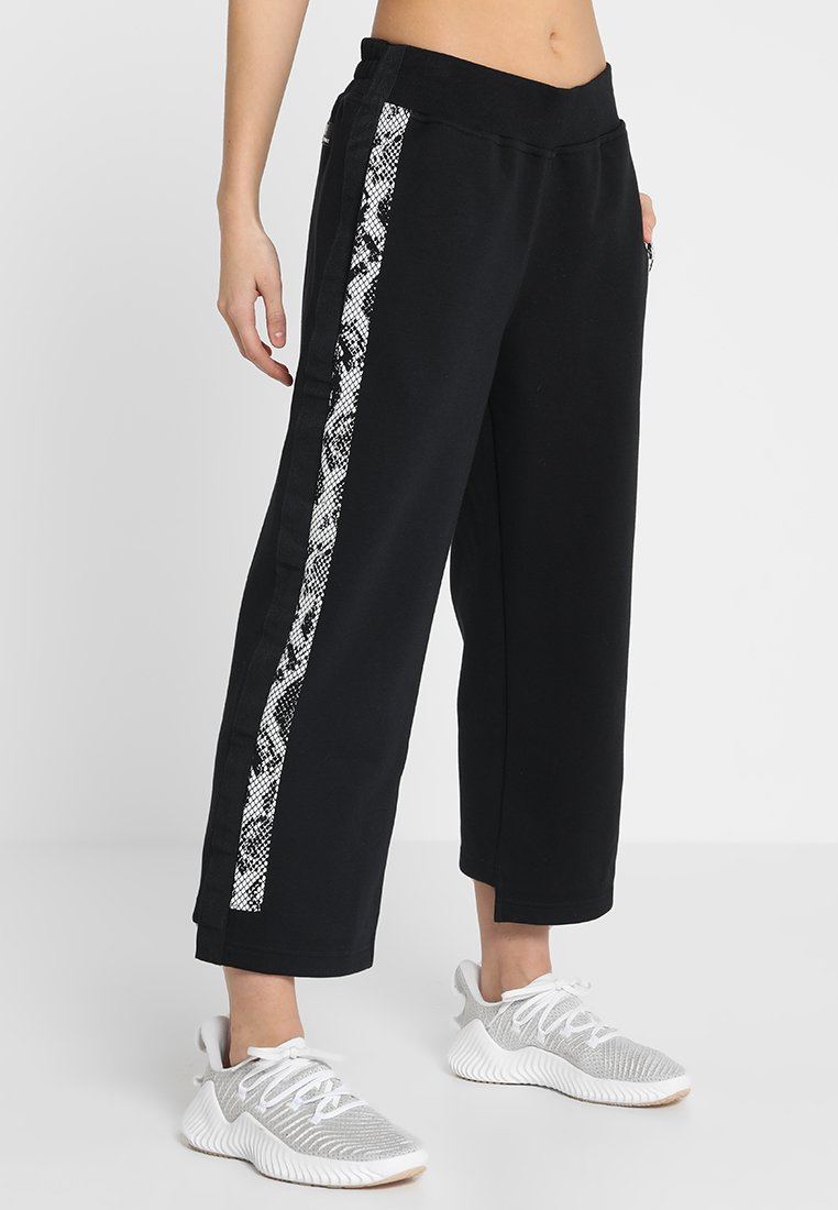 adidas by Stella McCartney - CROP - Pantalon de survêtement - black