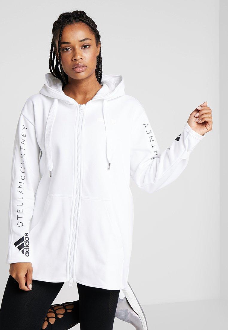 adidas by Stella McCartney - OVERSIZED SPORT HOODIE - Mikina na zip - white