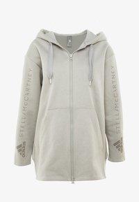adidas by Stella McCartney - OVERSIZED HOOD - Hoodie met rits - grey - 3