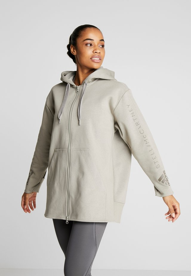 OVERSIZED HOOD - Mikina na zip - grey