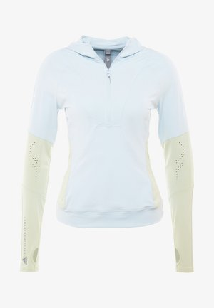 HOODED - Sports shirt - blue/grey