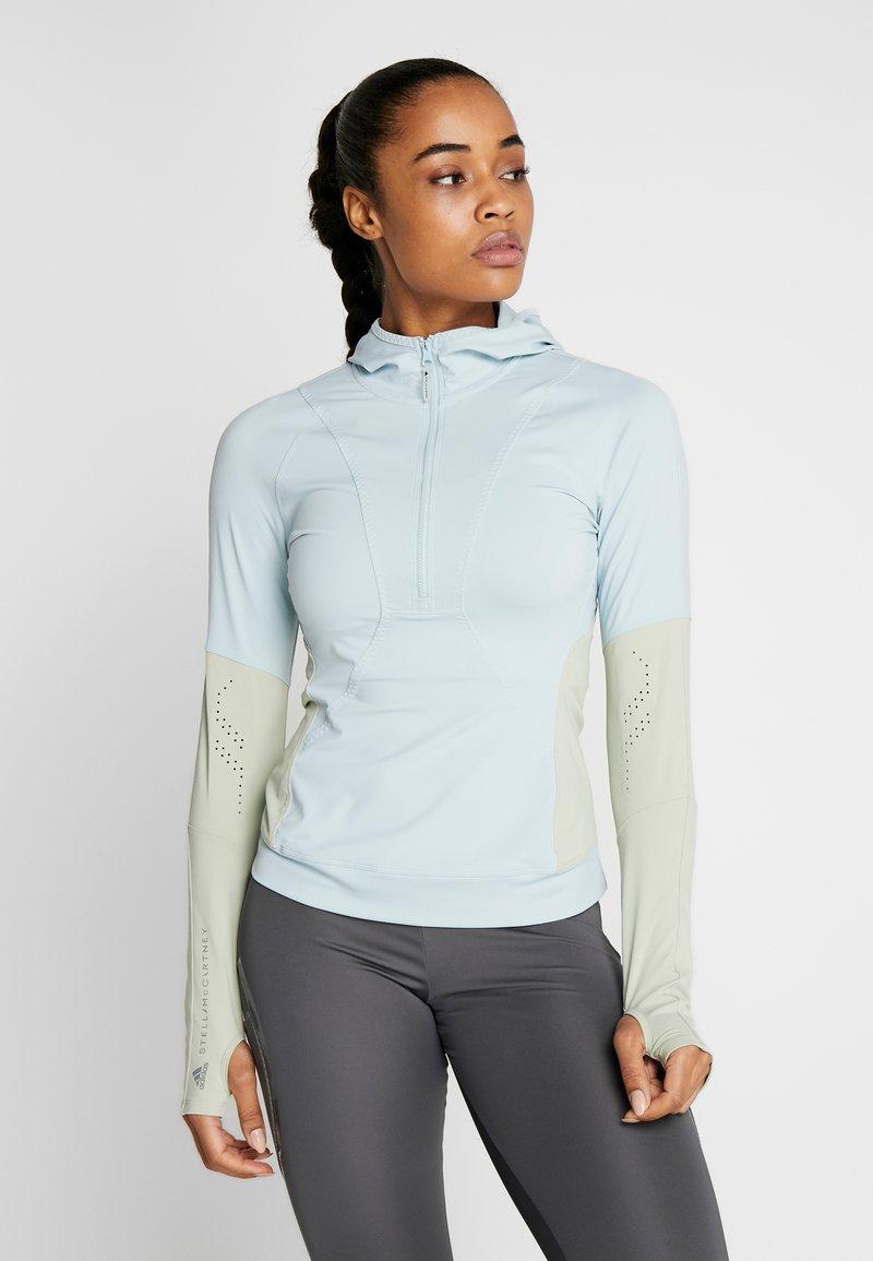 adidas by Stella McCartney - HOODED - Sports shirt - blue/grey
