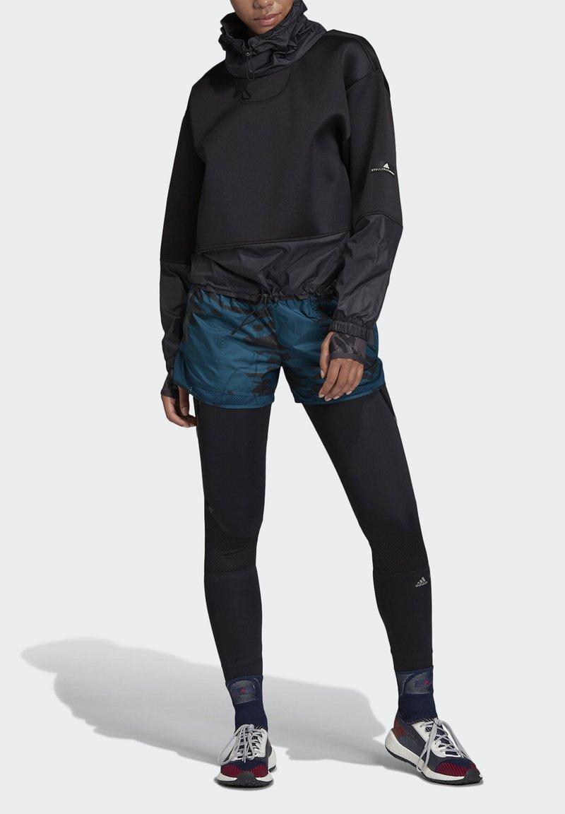 adidas by Stella McCartney - RUN SWEATSHIRT - Kapuzenpullover - black
