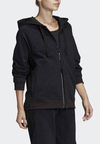 adidas by Stella McCartney - ESSENTIALS HOODIE - Zip-up hoodie - black - 4