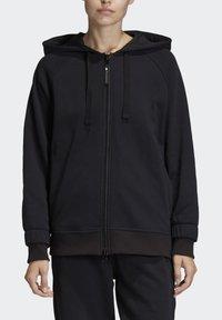 adidas by Stella McCartney - ESSENTIALS HOODIE - Zip-up hoodie - black - 0