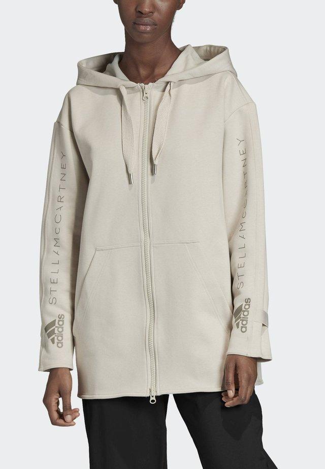 OVERSIZE HOODIE - Zip-up hoodie - beige