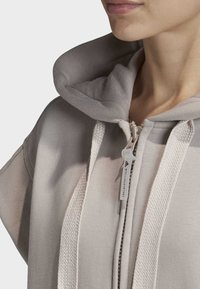 adidas by Stella McCartney - TRAINING SLEEVELESS HOODIE - Zip-up hoodie - beige