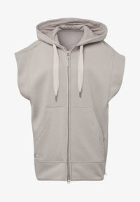 adidas by Stella McCartney - TRAINING SLEEVELESS HOODIE - Zip-up hoodie - beige - 6