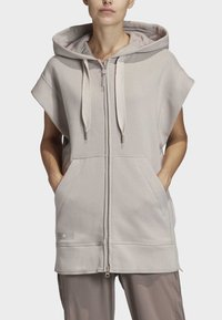 adidas by Stella McCartney - TRAINING SLEEVELESS HOODIE - Zip-up hoodie - beige - 1