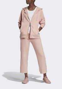 adidas by Stella McCartney - ESSENTIALS HOODIE - Zip-up hoodie - pink - 0