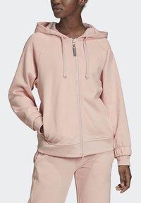 adidas by Stella McCartney - ESSENTIALS HOODIE - Zip-up hoodie - pink - 1