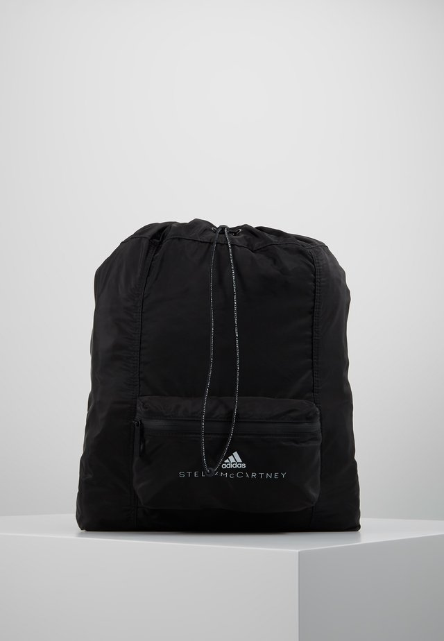 GYMSACK - Drawstring sports bag - black/white