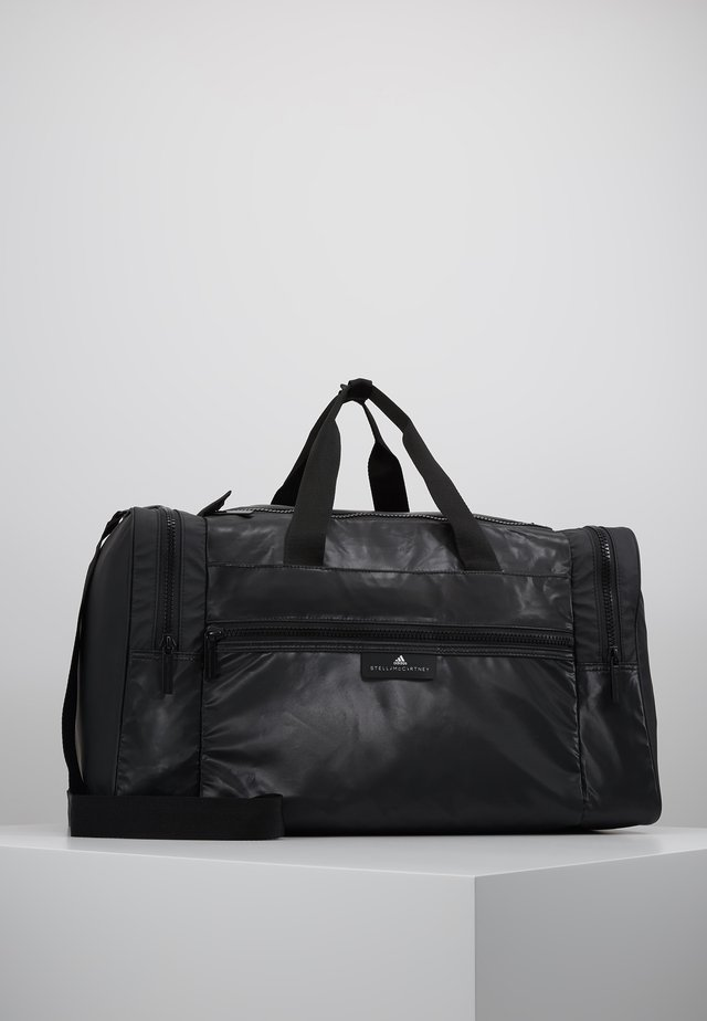 SQUARE DUFFEL M - Sports bag - black/black/white