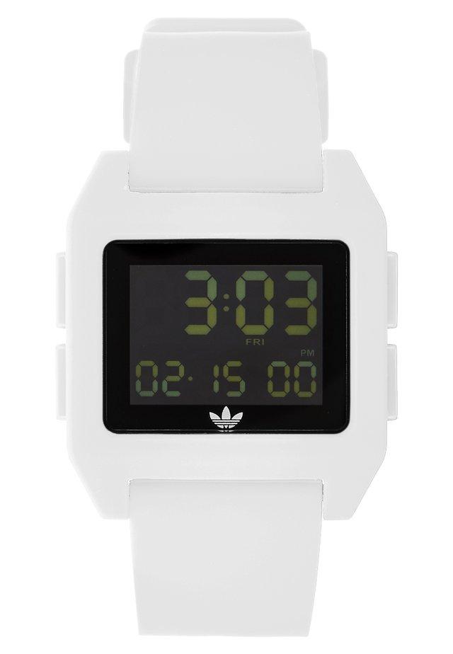 ARCHIVE - Digitální hodinky - white